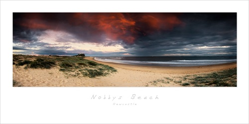Nobbys Beach redsky